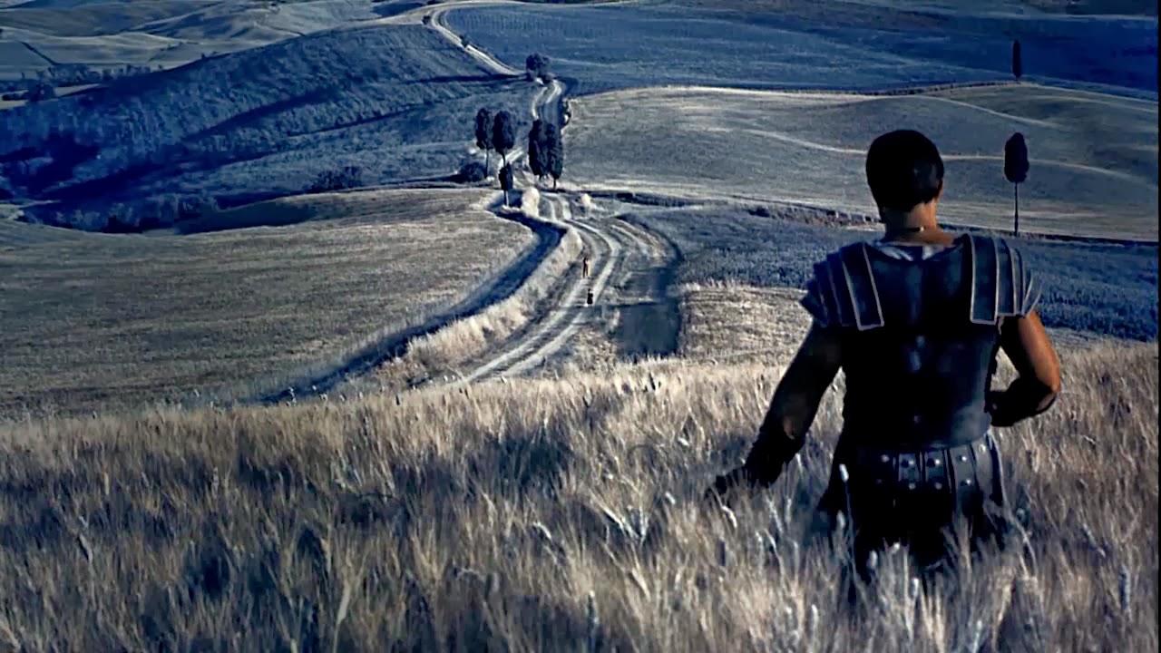 Il Gladiatore film in Val D'Orcia